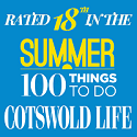 Rated in top 20 by Cotswold life summer things to do