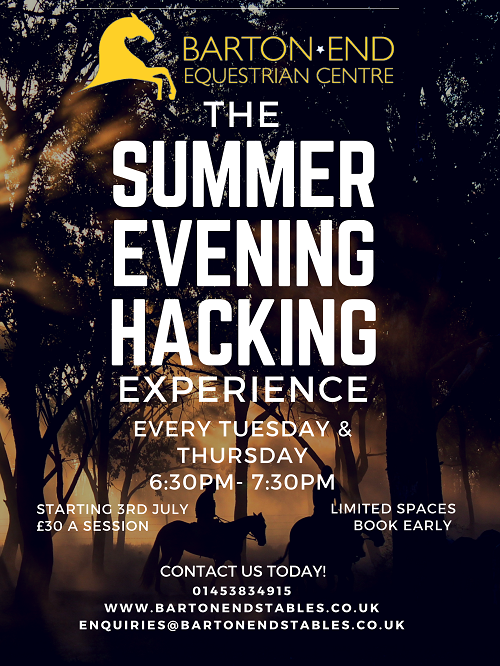 Summer evening hacking every tuesday and thursday